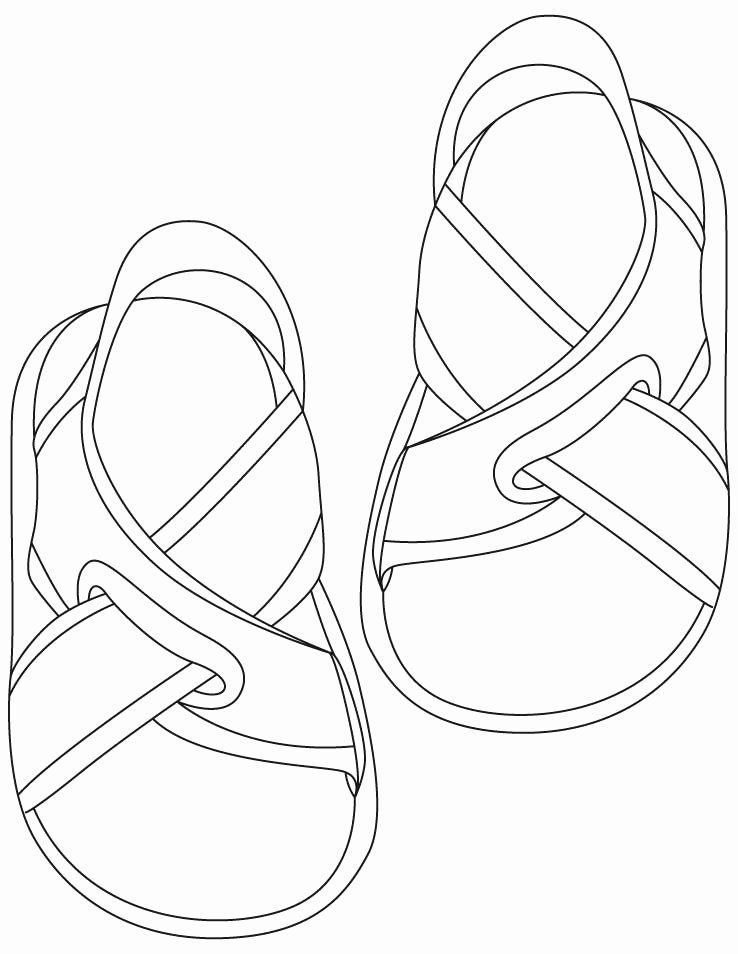 28 Flip Flops Coloring Page In 2020 With Images Coloring Pages Coloring Pages Inspirational Coloring Pages For Kids