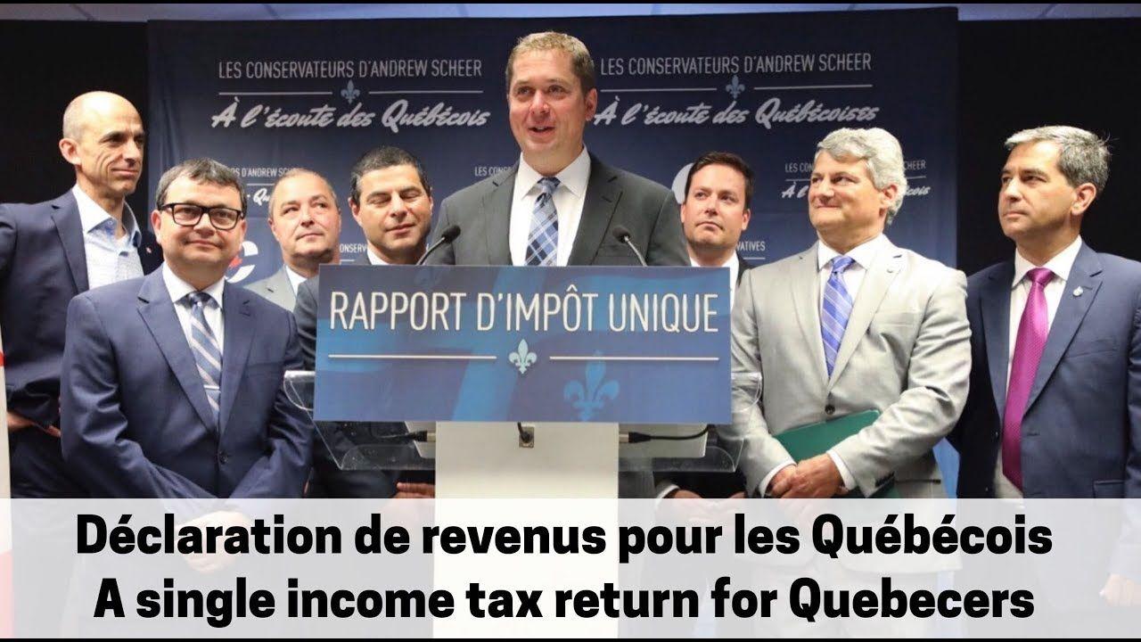 Déclaration de revenus pour les Québécois \ A single