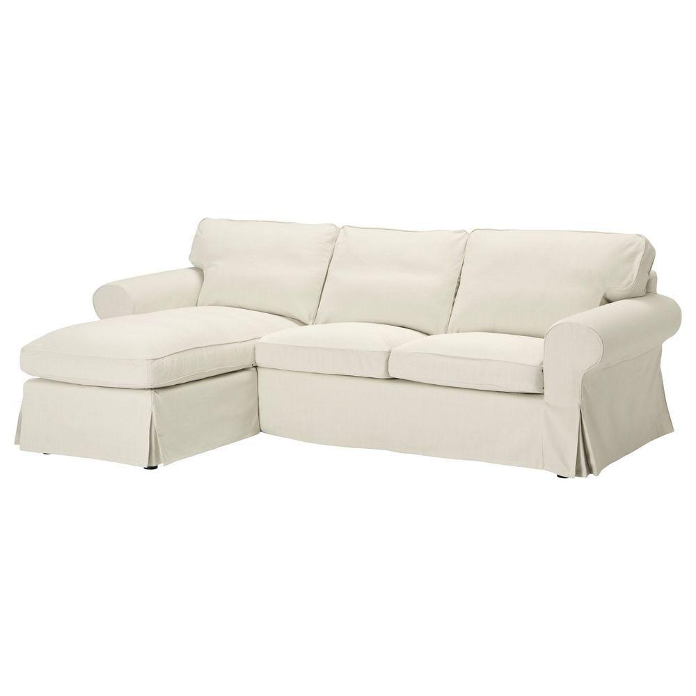 Ikea Ektorp Cover For Loveseat Chaise Svanby Beige Sofa Slipcover  401.836.20 NIP #IKEA