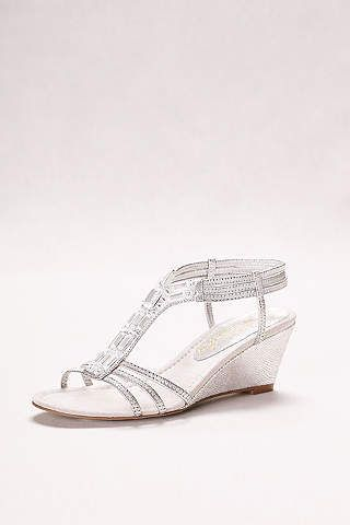 Women's Wedding Wedges: Silver, White, Black & More