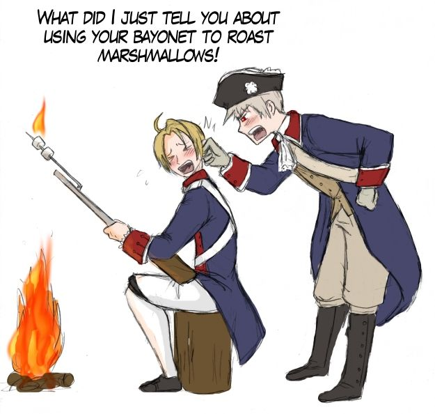 Hetalia- America and Prussia during the Revolution
