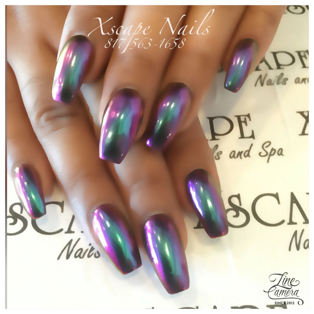 60 Fall Nail Art Trends to Start Wearing Now | Chrome nails, Chrome ...