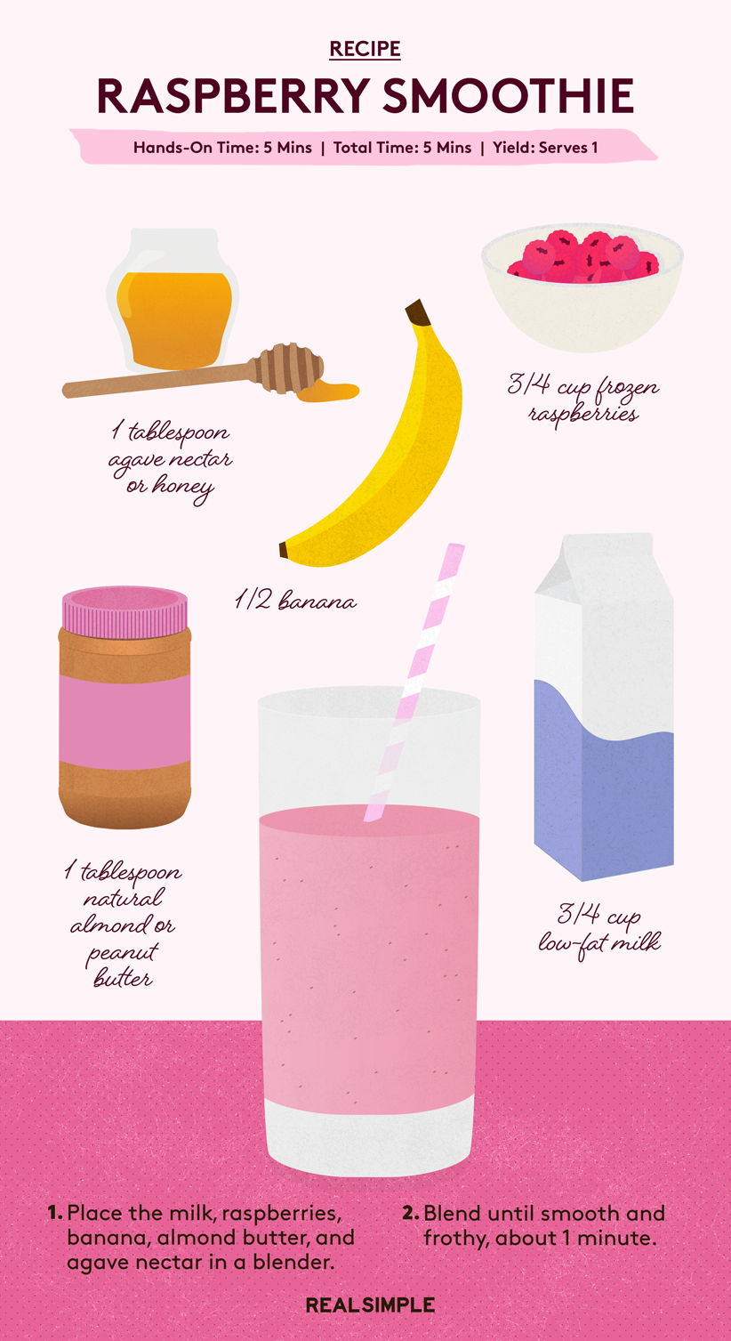 Raspberry and Nut Smoothie