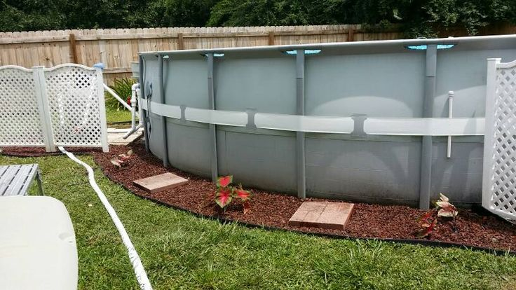 Landscaping around base of Intex Ultra Frame pools - Page 5 | Above ...