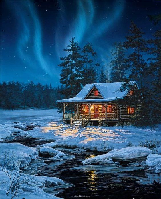 Pingl par donna johnson sur winter wonderland snowy nights en 2018 pinterest paysage - Paysage enneige dessin ...