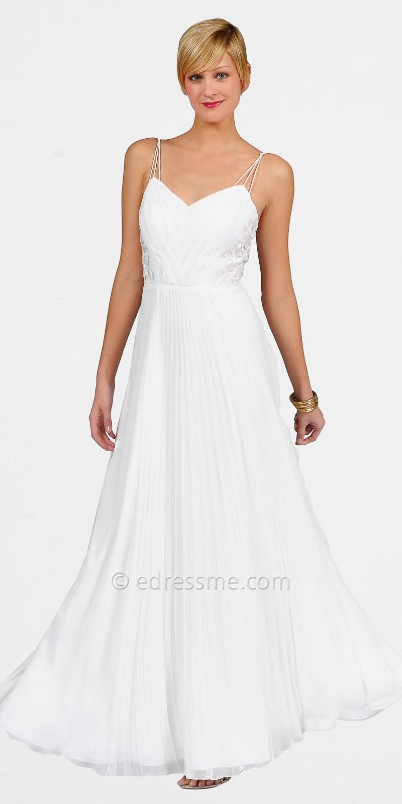 Long White Evening Dress Photo Album - Reikian