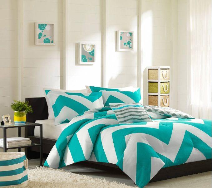 Marvelous Chevron Bedroom Decor With Chevron Bedding Set | Decolover.net
