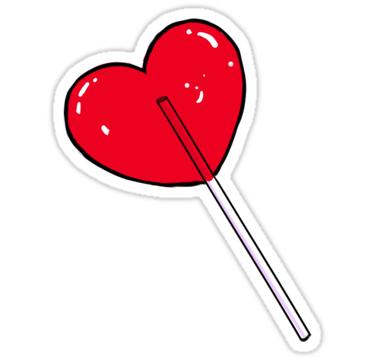 Heart Sucker Sticker By Prismapansy Hydroflask Stickers Print Stickers Homemade Stickers