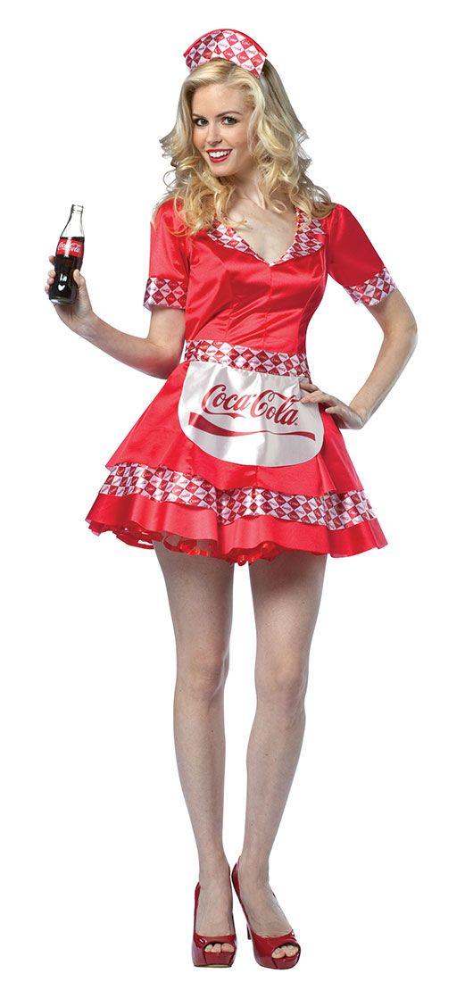 coke soda girl adult women sexy costume - Tough Girl Halloween Costumes