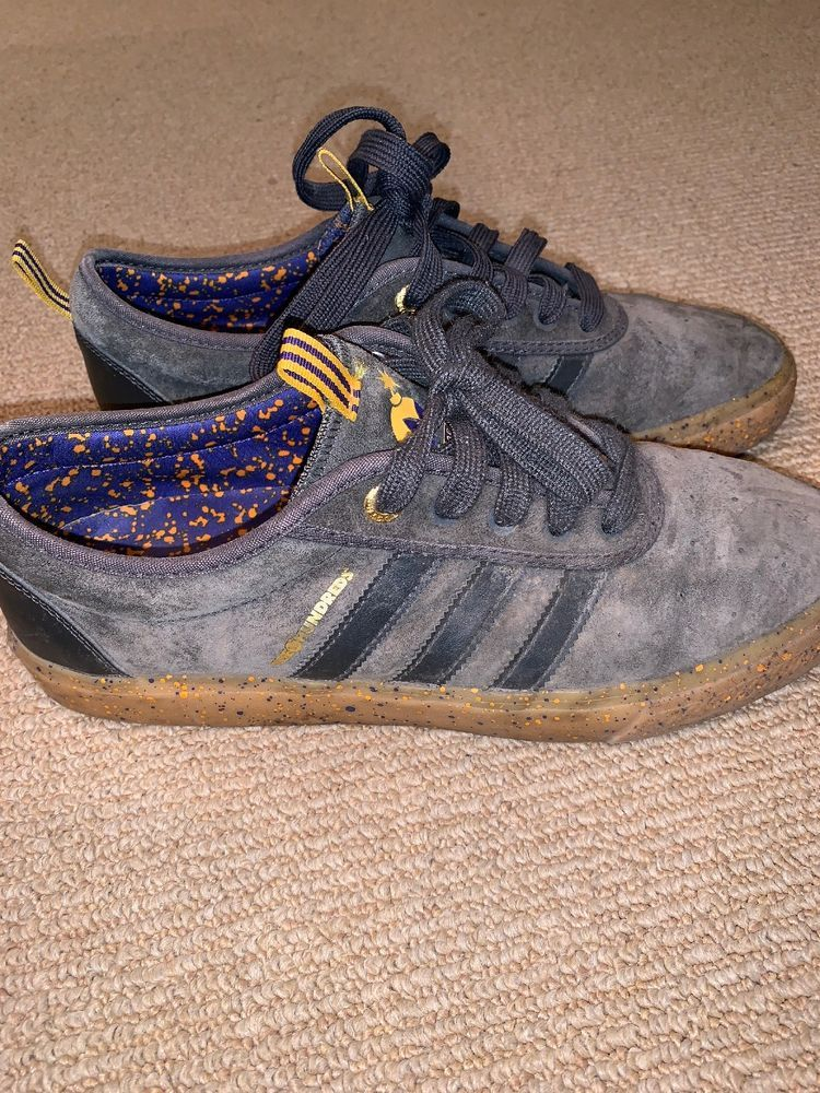 Adidas X The Hundreds Adi Ease Lakers Dark Grey Gum Size 10