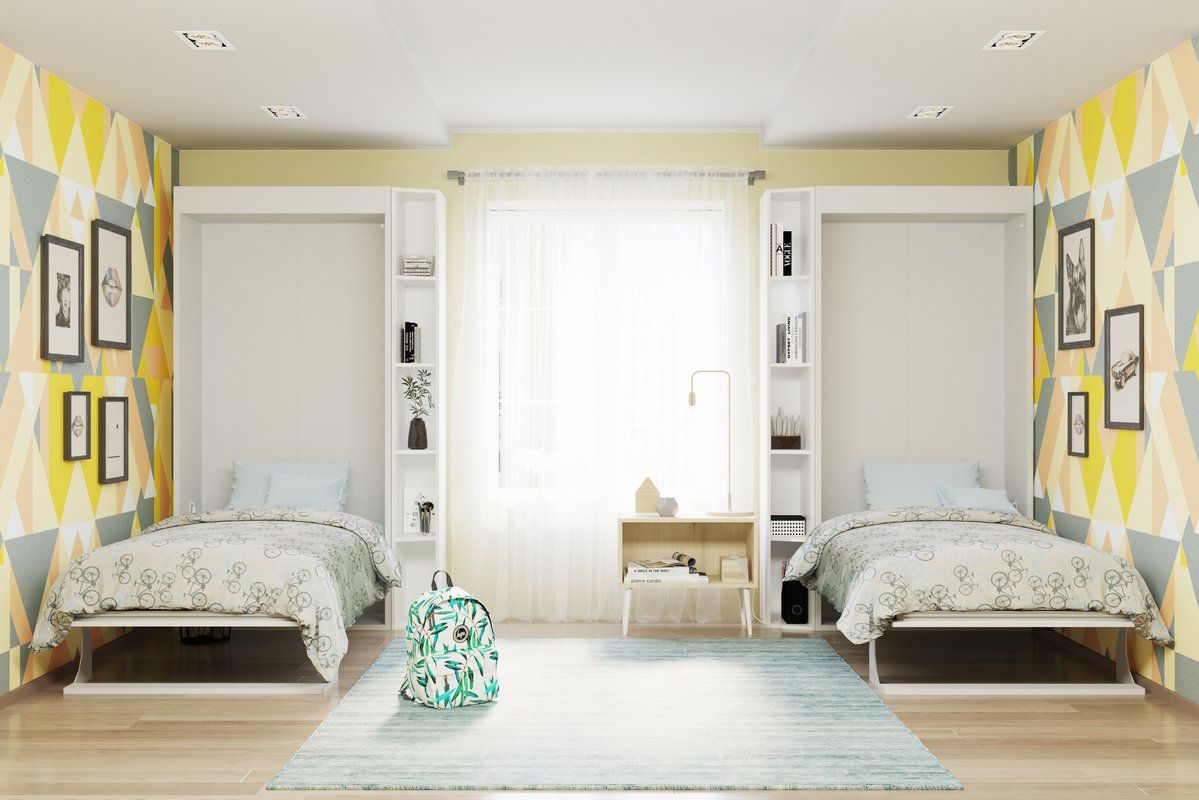 Gautreau Twin Murphy Bed With Images Twin Wall Bed Murphy Bed
