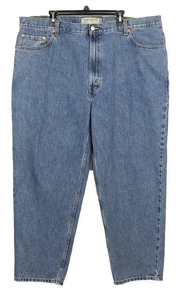 Levis 560 Jeans Mens Sz 44X30 Comfort Fit Blue Denim Red Tab Cotton Zipper  Fly 226b5b26bad1