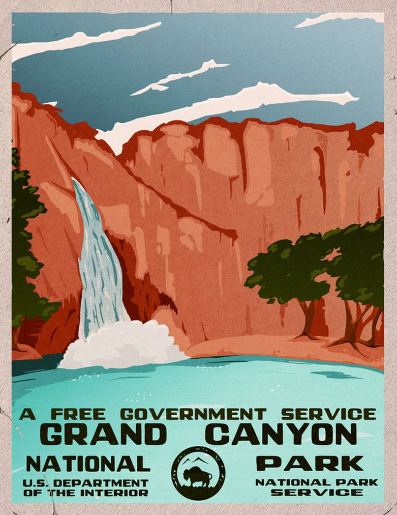 WPA national parks poster art Graphic Design Pinterest