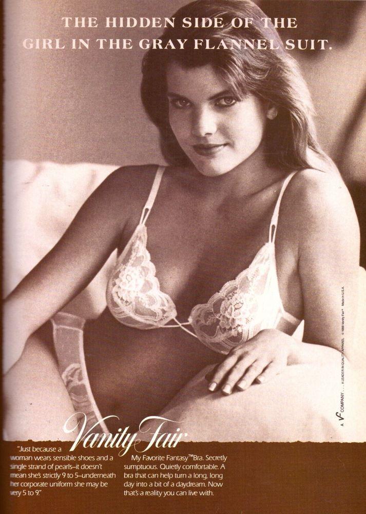 621fa1d036c2f 1988 Vanity Fair Bra Panties Lingerie Print Ad Vintage Advertisement VTG  80s