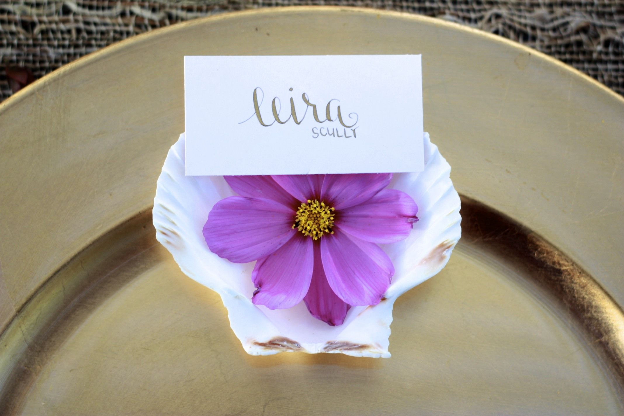 Dinner Party Name Ideas Part - 34: Wedding Place Cards - Escort Card - Gold / Black Calligraphy - Dinner Party  - Name