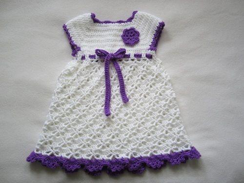 Patrones para tejer vestidos de bebé a crochet (3) | Crochet baby ...