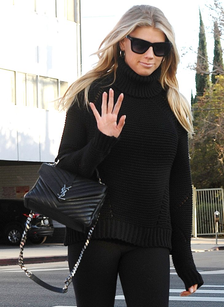 6d3574bc3ef7 Charlotte McKinney- Dueling Black Birkins are the Best We Can Do This Close  to Christmas