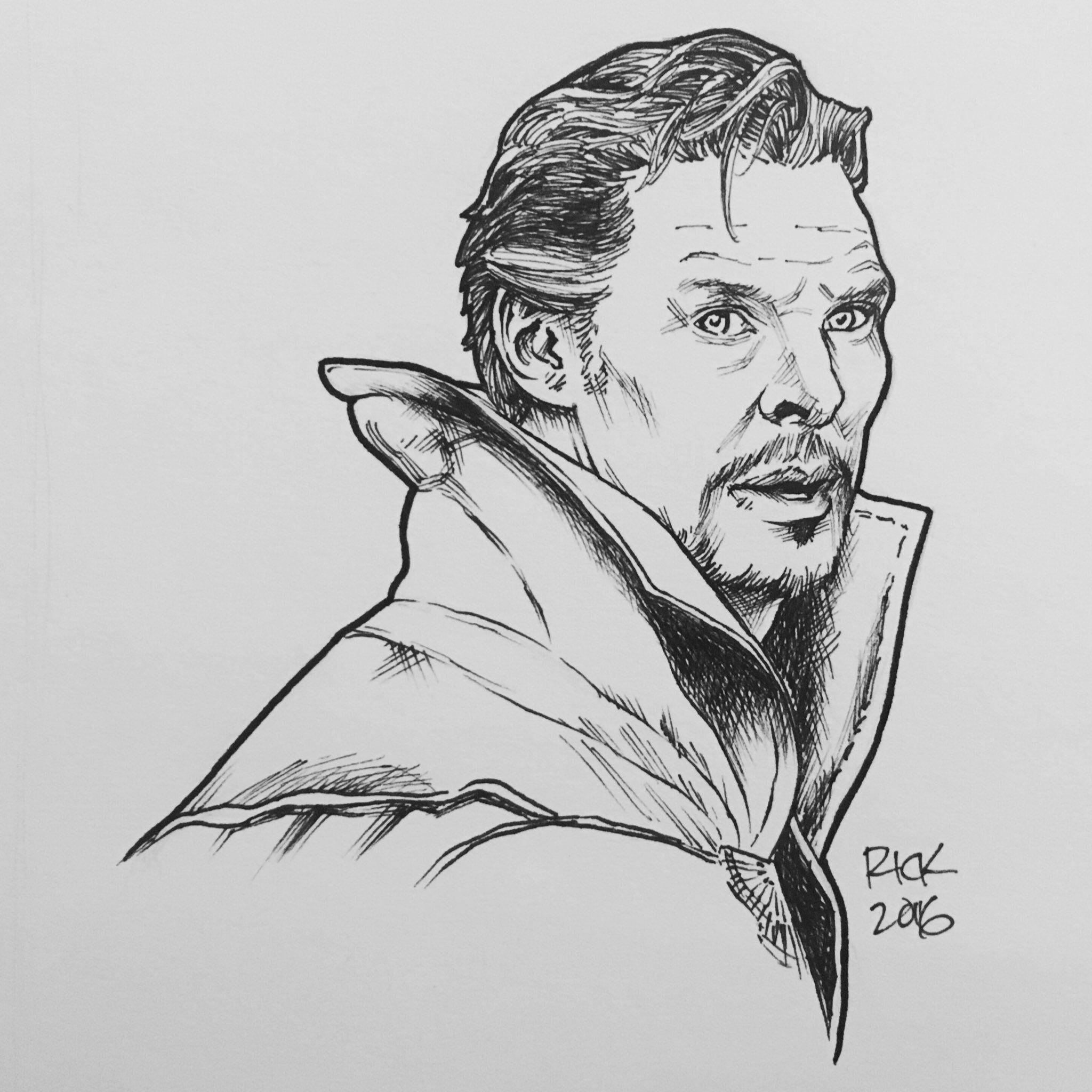 Benedict Cumberbatch As Doctor Strange Portrait By Rick Cortes