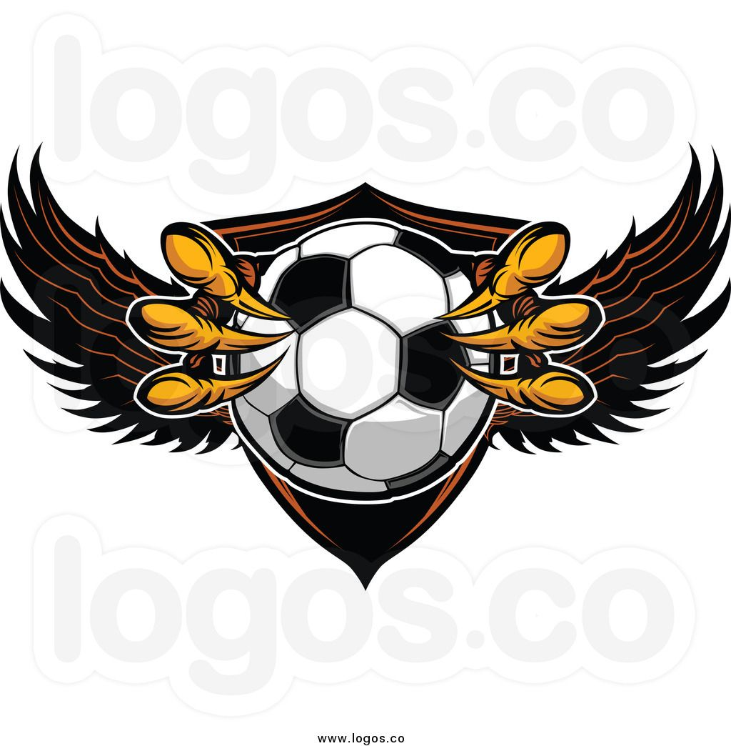 Royalty Free Clip Art Vector Logo Of A Soccer Ball And Eagle Free Clip Art Vector Illustration Free Illustrations