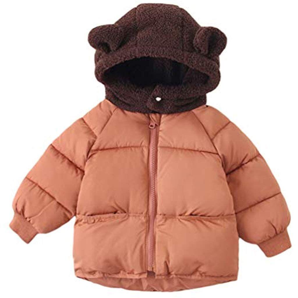 OCHENTA Girls Puffer Down Coat Winter Jacket with Faux Fur Trim Hood