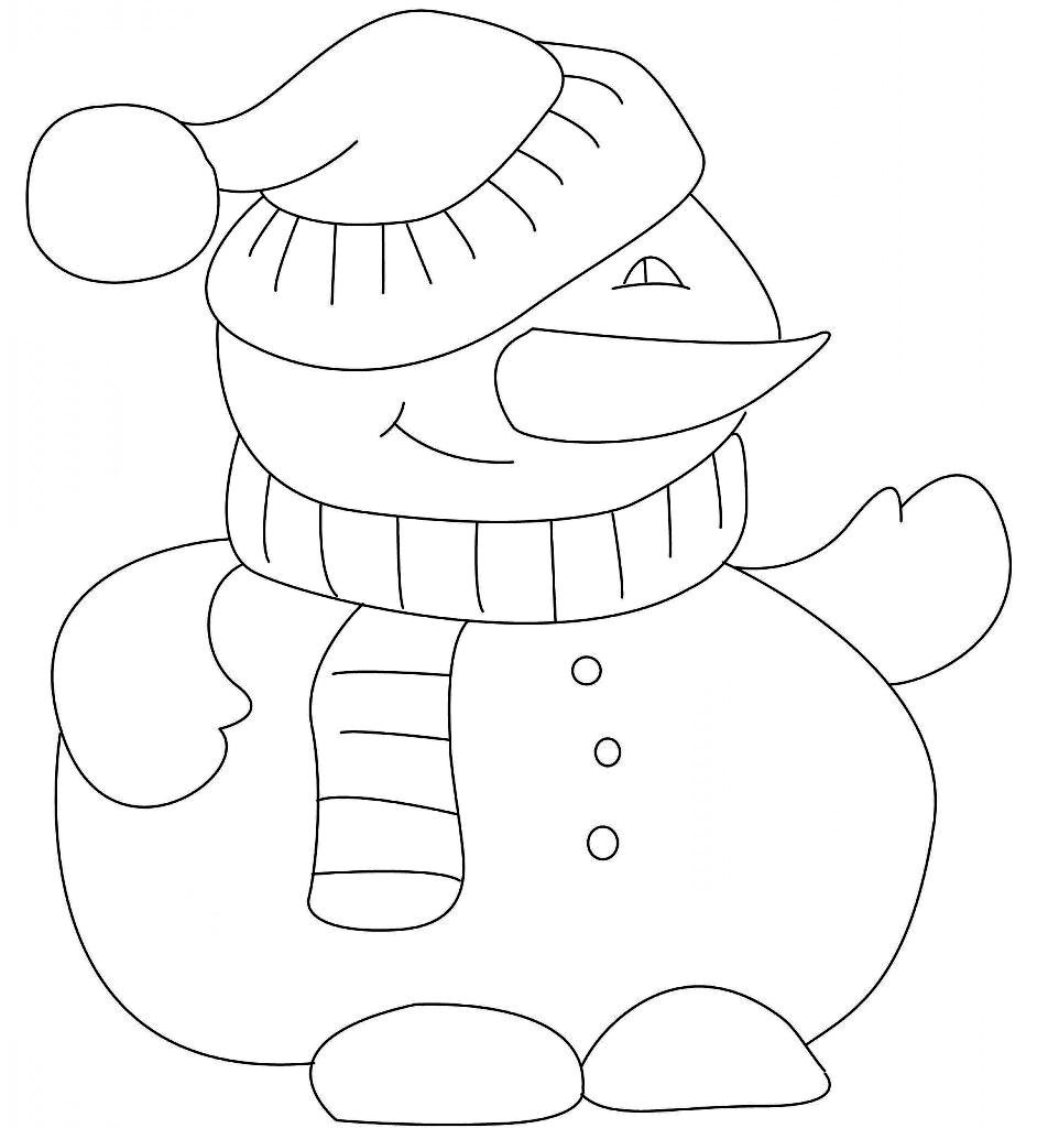 Snowman Coloring Pages | Snowman Coloring Page And Frosty The Snowman Song  | Kiboomu Kids Songs