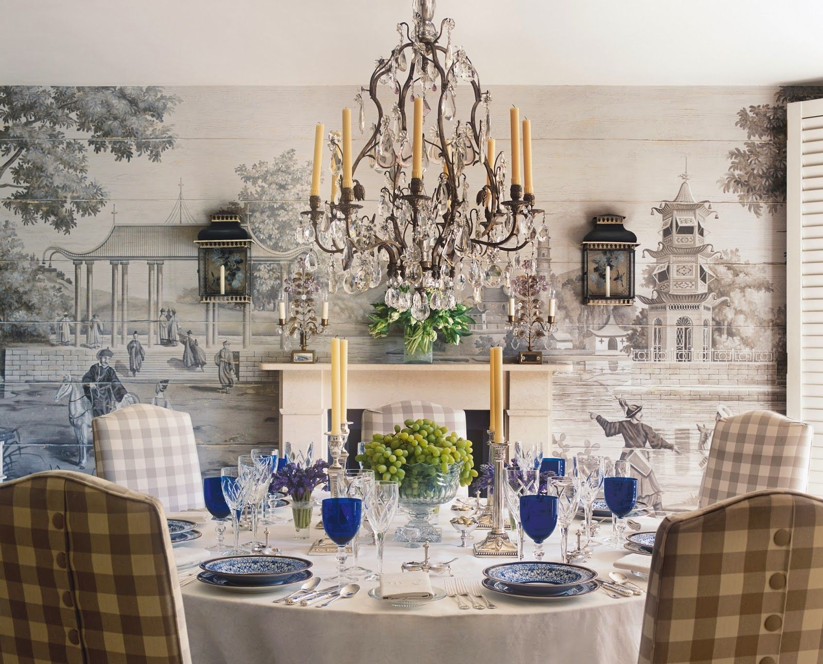 gorgeous dining room with crystal chandelier; dining room ideas ...