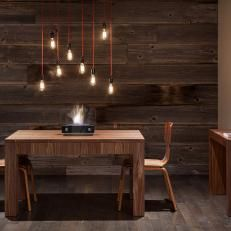 dining room modern pendant rustic dining room with modern pendant lights