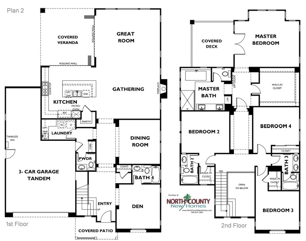 Floor Plans Lanai Ii New Homes In Carlsbad North County New Homes Floor Plans House Floor Plans New Homes