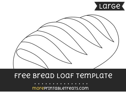 Free Bread Loaf Template  Large  Shapes And Templates Printables