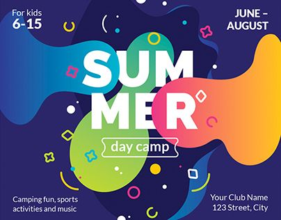 summer camp modern and creative templates suite campaigns