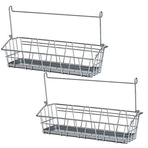 ikea steel wire basket spice rack hang or free standing