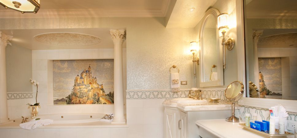Fantasy Bathroom In The Fairytale Suite One Of Five New Signature Suites At Completely Redesigned Disneyland Hotel