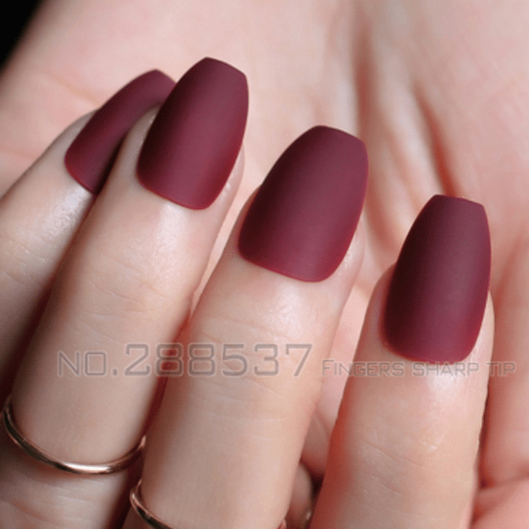 The Do S And Don Ts Of Dark Red Acrylic Nails Short Square Bloggerathome Com Red Acrylic Nails Burgundy Nails Short Acrylic Nails