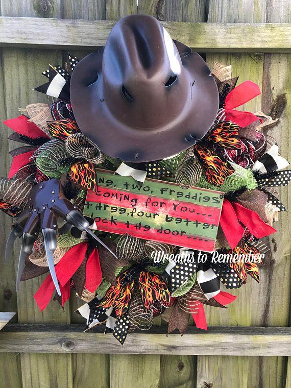 Freddy Krueger wreath Nightmare on Elm Street Dia de muertos