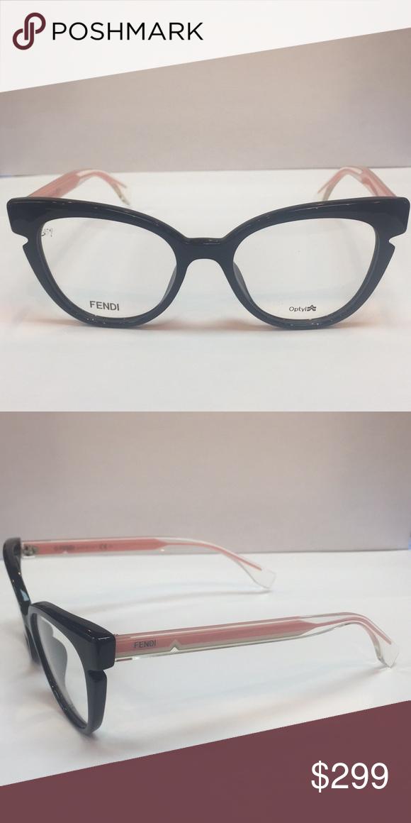 ef19b497de38 Fendi-0134 N7A Women Cateye Optical Frame Fendi Women s Optical Frame Brand  New comes with Original Case and Cloth Black and Pink cateye Fendi  Accessories ...