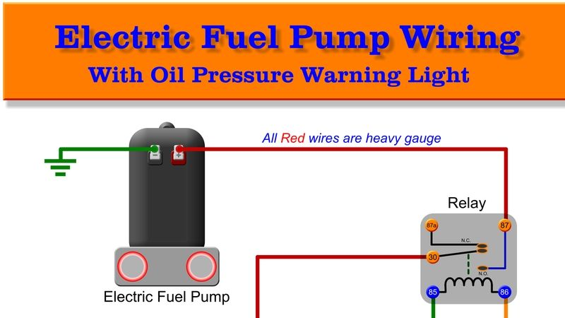 Safe Fuel Pump Wiring Diagrams Fuel Warning Lights Electricity