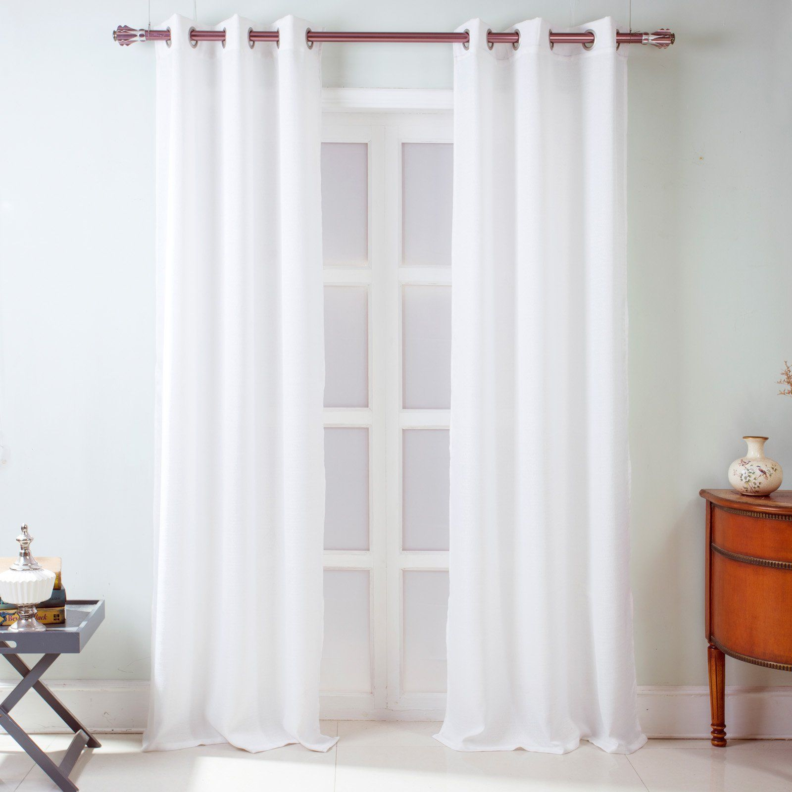 Rt Designers Collection Madrid Textured Curtain Panel Pair