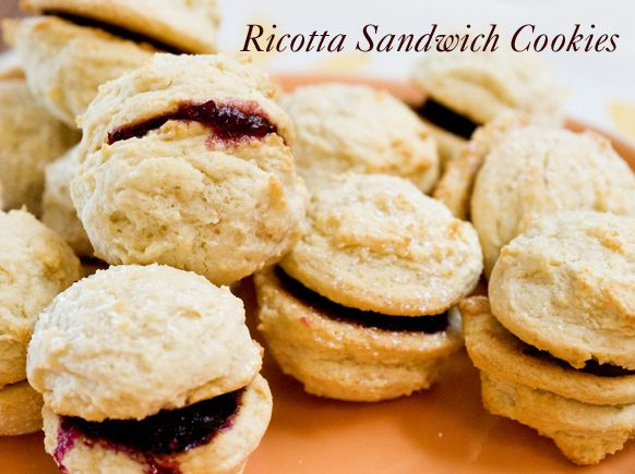 ricotta cookie sandwiches with jam