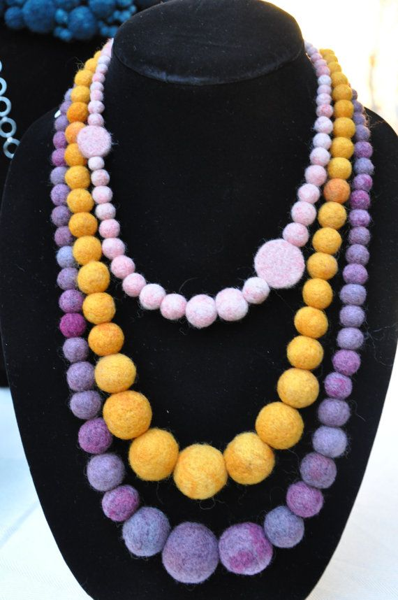 Pink Felt Necklace