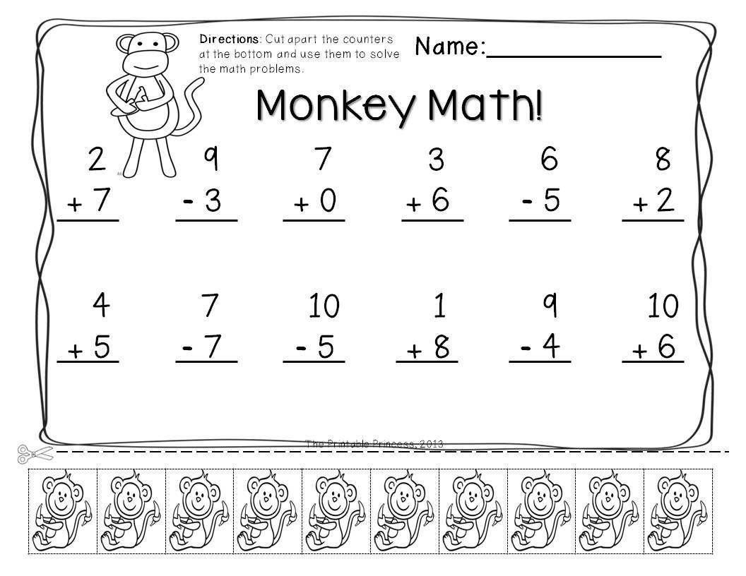 Adding And Subtracting Kindergarten Worksheets Printable In 2021 Kindergarten Subtraction Worksheets Kindergarten Math Worksheets Addition 1st Grade Math Worksheets Blank addition sentence worksheet