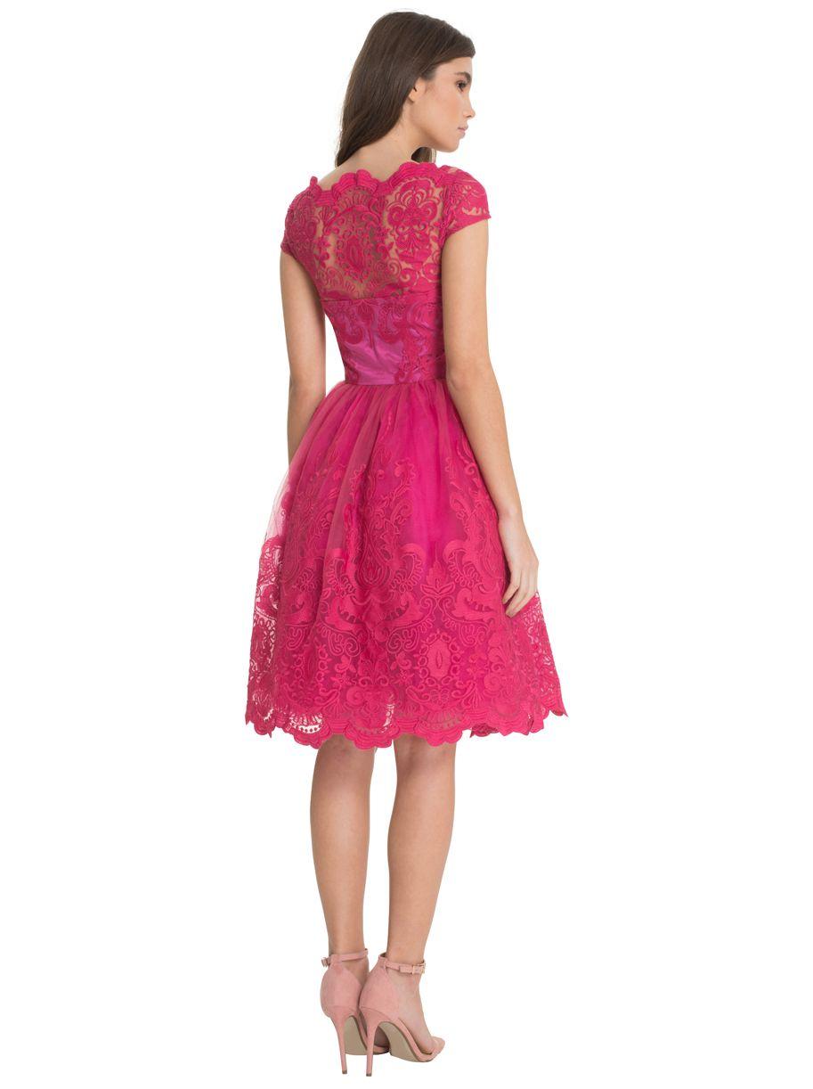 272adafc Chi Chi London SUKI sukienka wieczorowa midi rozkloszowana haftowana ...