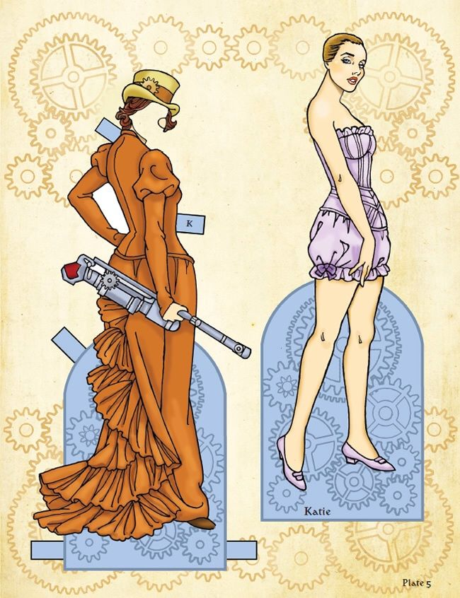 Steampunk Vixens Paper Dolls § Costumes 1 SAMPLE Welcome To Dover  Publications