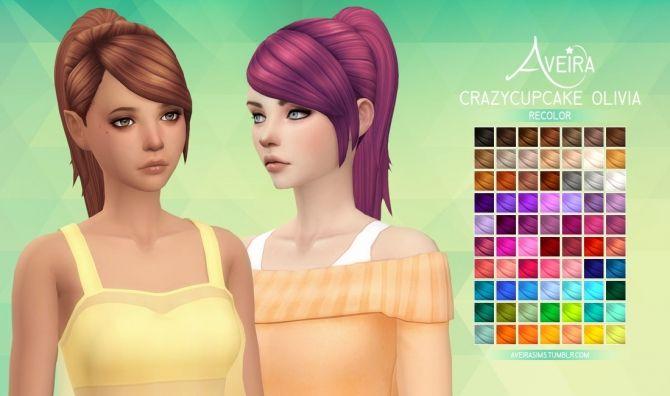 Crazycupcake Olivia Hair Recolor At Aveira Sims 4 Via Sims