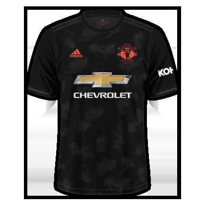 Manchester United 2019 20 Jersey Third Mens Tops Football Shirts Mens Tshirts