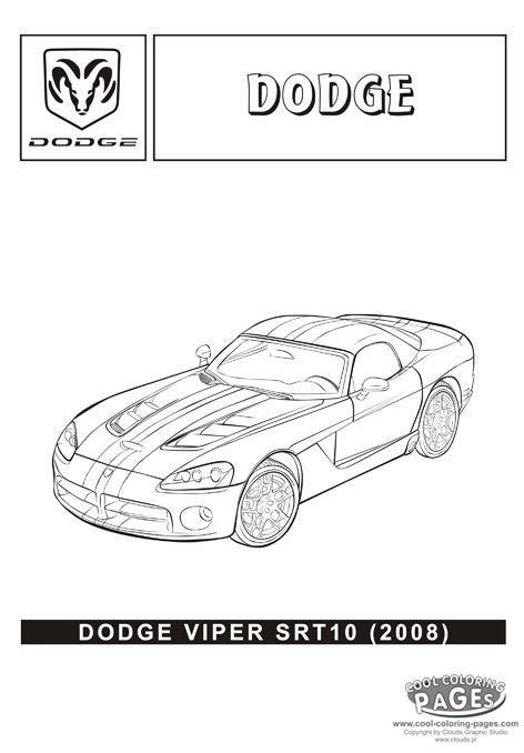 dodge viper srt10 2008 cars coloring pages