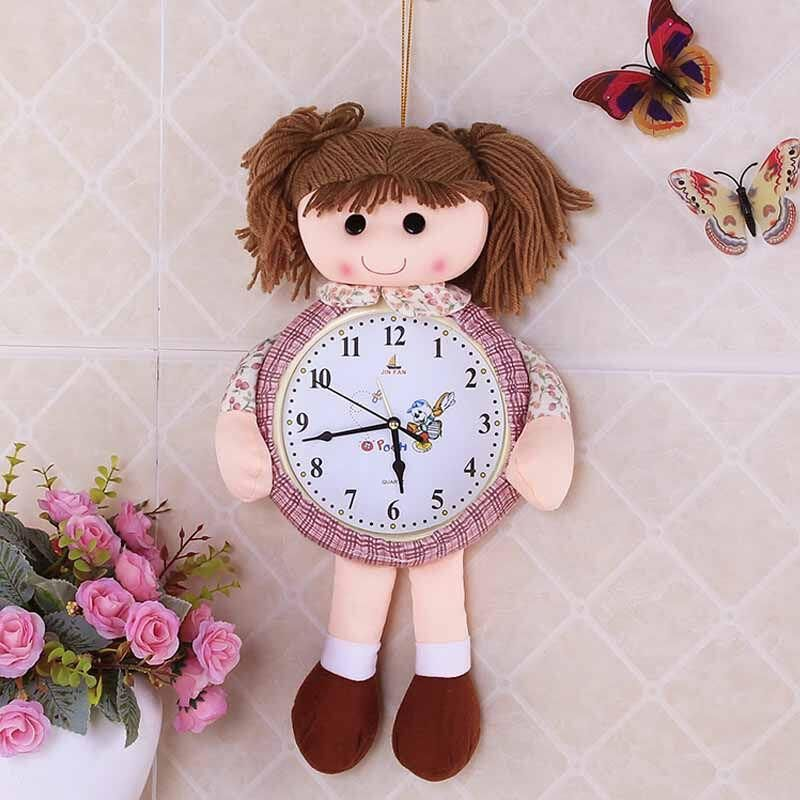 Children 's toys wall clock Valentine's Day present Toy doll gifts for Princess room wall fabric decoration