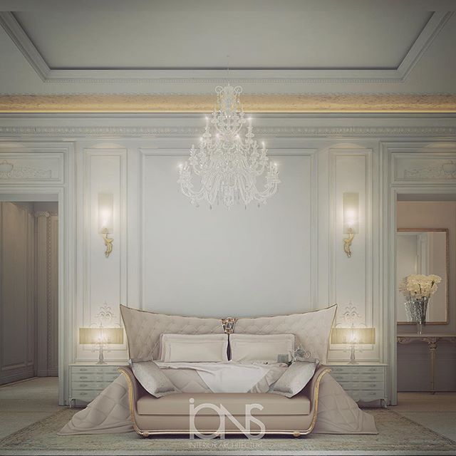 Qatar Luxury Homes Bedroom: Master Bedroom Design • Private Palace • Qatar