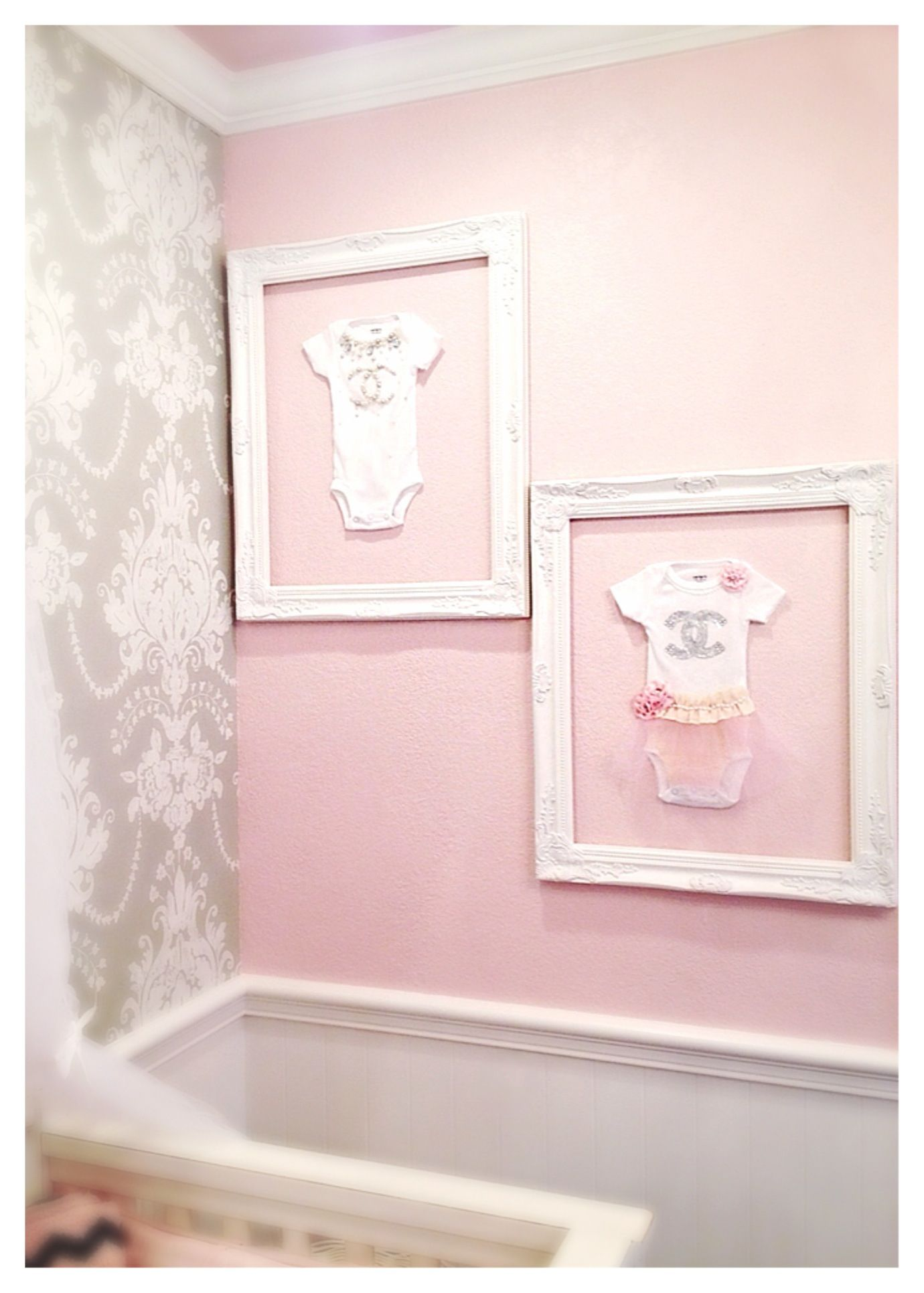 Chanel Baby Onsies In Baroque White Frames Perfect Baby Glam