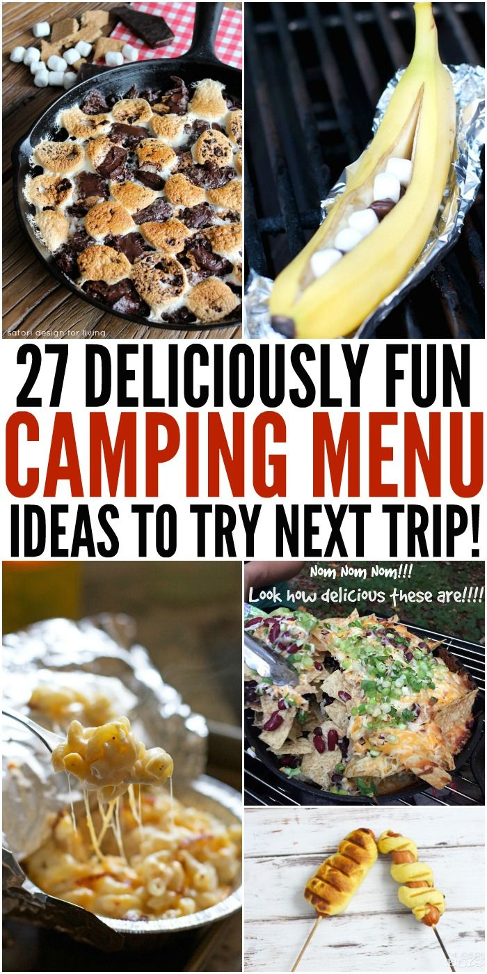 28 Irresistible Camping Food Ideas #campingideas