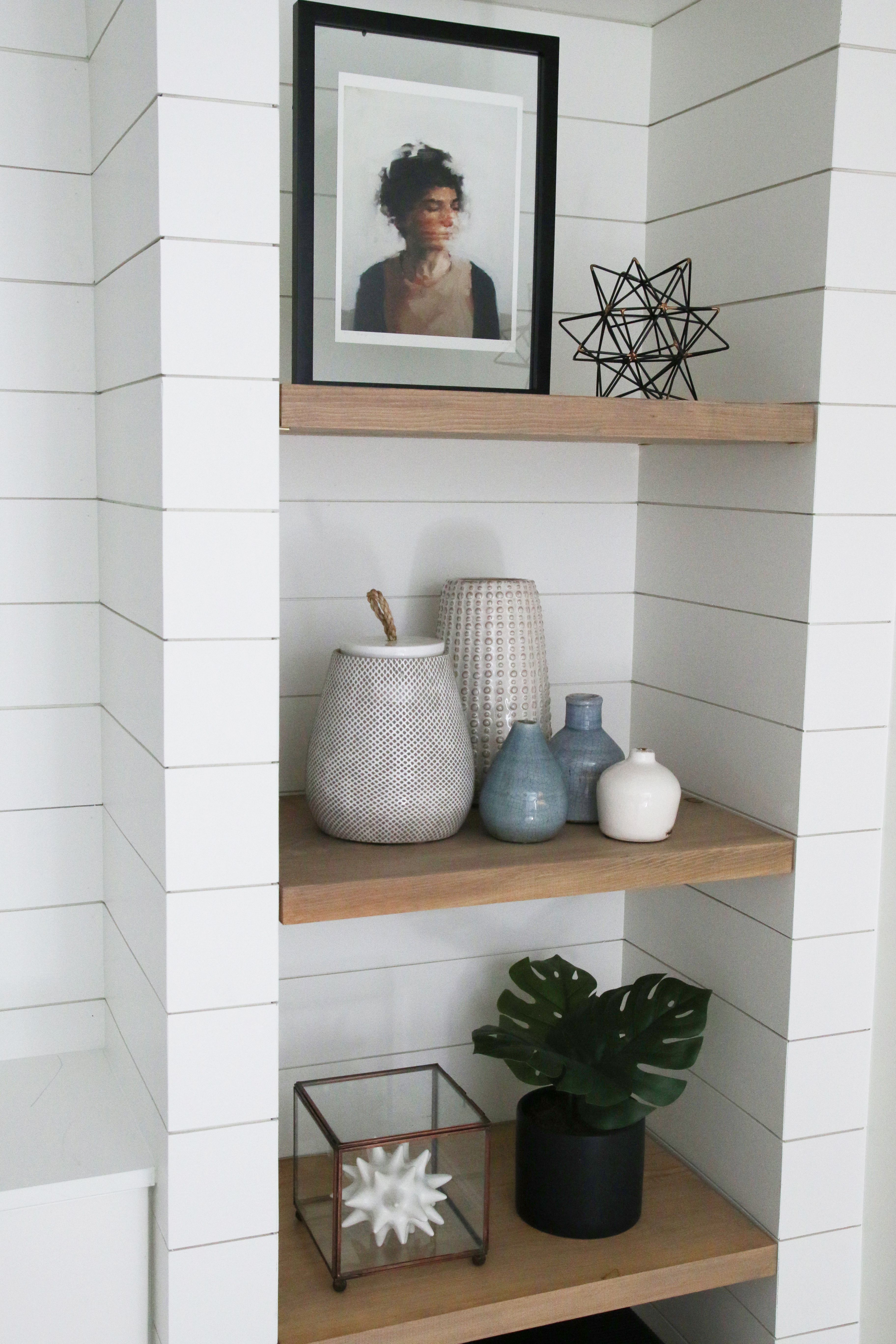 Diy Shiplapped Built Ins Finished And Styled